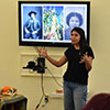 Maya Harjo presenting at Cultivating Seed Memory