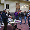 A seed planting demonstration at Seeds for Feeding Yourself (Spring 2018)