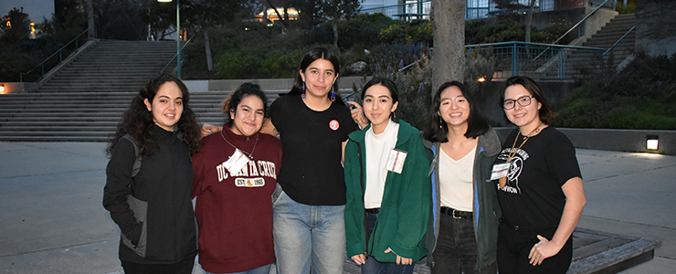 Interns with Maya Harjo, guest speaker at Cultivating Seed Memory (Winter 2019).